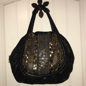 Isabella Fiore Leather Embellished Purse